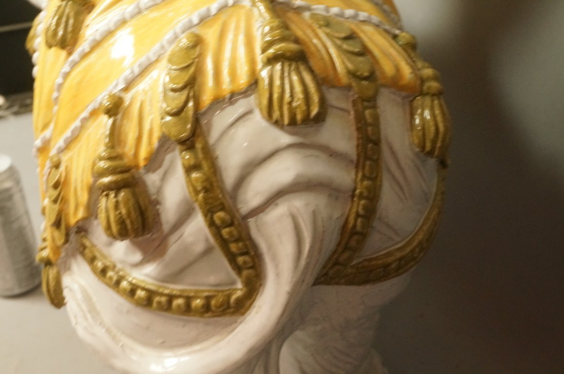 Large Ceramic Elephant Side Table.  Italian. Heav - 5