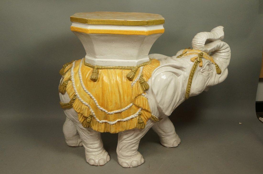 Large Ceramic Elephant Side Table.  Italian. Heav - 6