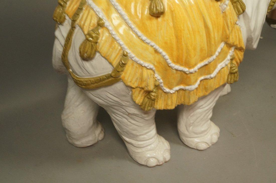 Large Ceramic Elephant Side Table.  Italian. Heav - 8