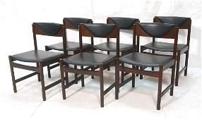 Set 6 Danish Modern Teak Dining Chairs. O.D. MOBL