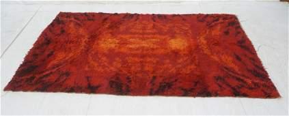 """7'7"""" x 5'3"""" ERISKAY Shag Rug Carpet. Reds & Black"""