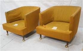 Pair of Harvey Probber Style Lounge Chairs  Wood