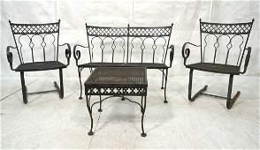 4pc SALTERINI Iron Patio Set. Two Chairs. Love Se