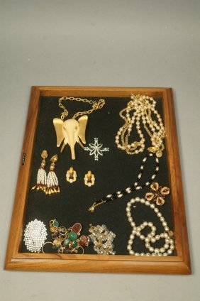 Lot 13pc Costume Jewelry. Most Signed. Kenneth La