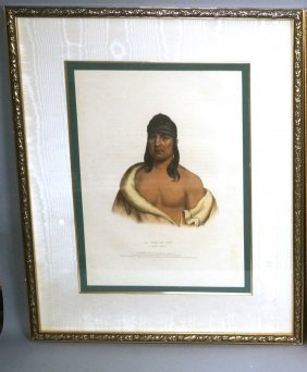 Framed American Native Indian Print. Sauk Chief: