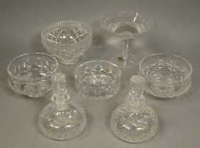 7pcs Waterford Crystal. Three Bowls. Compote. Two