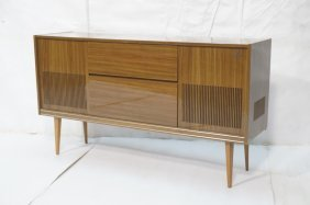 Grundig Stereo Cabinet. Raised On Legs.