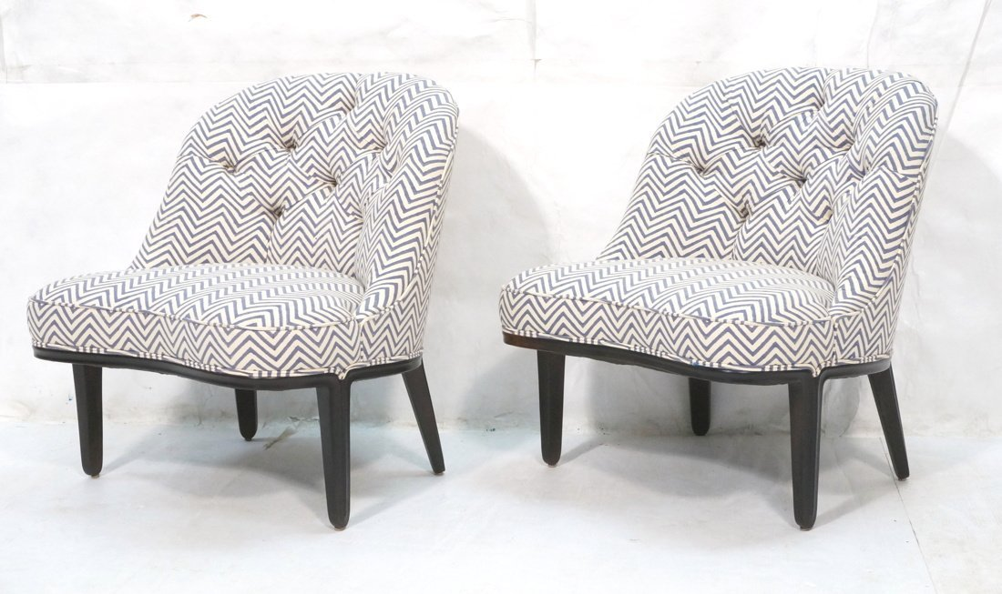 Pr DUNBAR Side Lounge Chairs. EDWARD WORMLEY