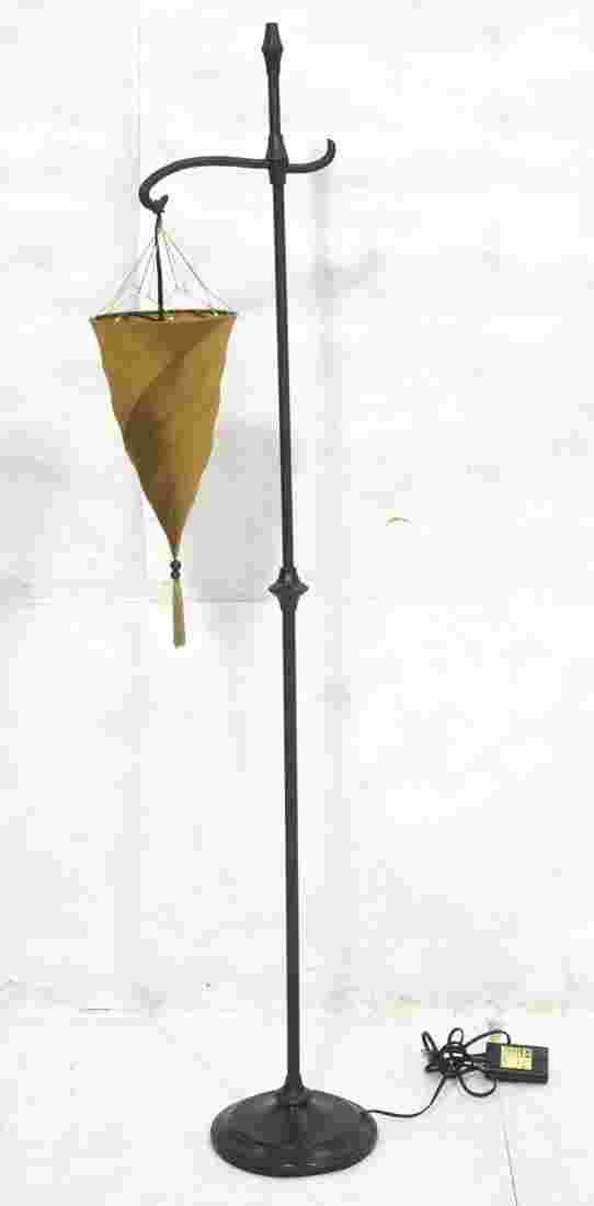 Pottery Barn Floor Lamp Fortuny Style Silk Shade