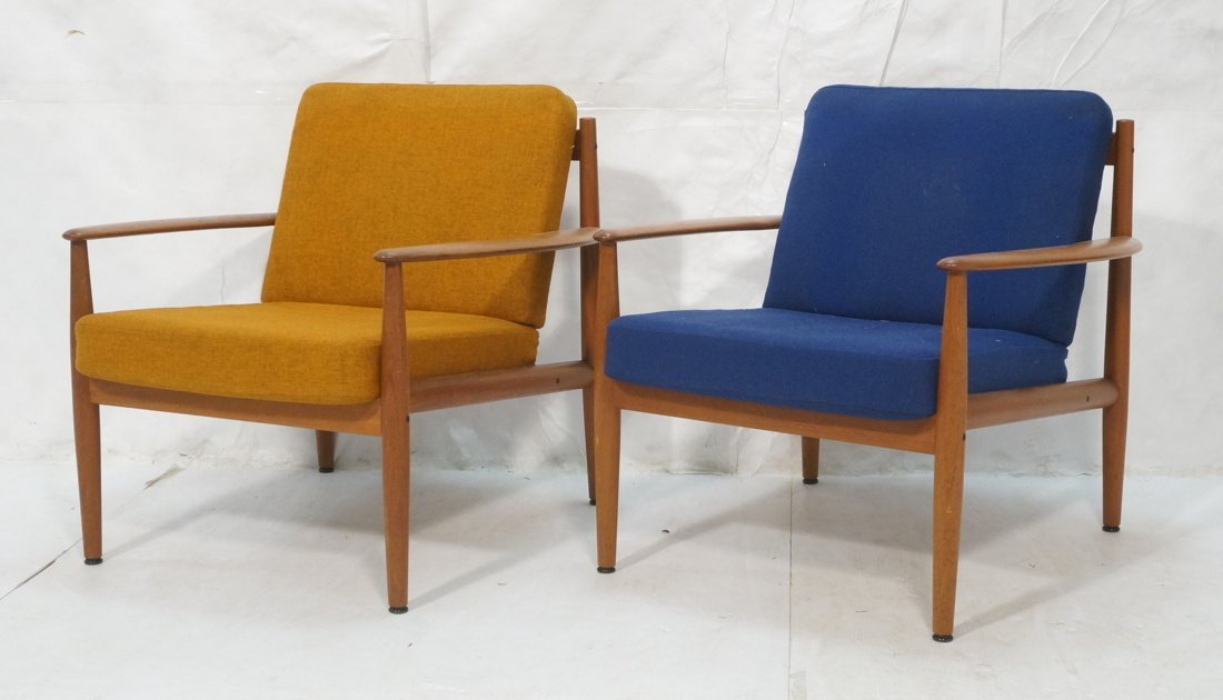 2pc GRETE JALK France & Sons Lounge Chairs. Open
