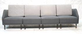 4pc Finn Juhl Bo-70 Sofa Couch. Two Tone Gray Uph
