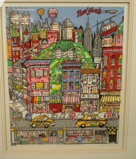 "Charles Fazzino ""new York, New York"" Print. City"