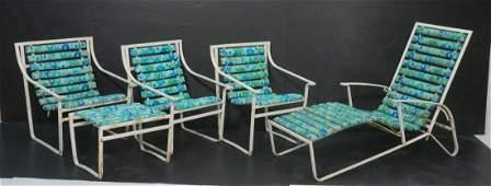 Set 5pc SAMSONITE Outdoor Patio Furniture. Long C