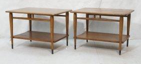 Pr Lane End Tables. Not Marked. Dovetailed Desig