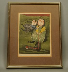 Graciela Rodo Boulanger Pencil Signed Lithograph