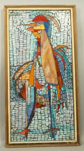 Harold Nosti Glass Mosaic Tile Wall Plaque. Roost