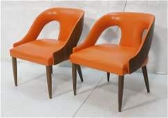2pcs HARVEY PROBBER style Lounge Chairs. Walnut B