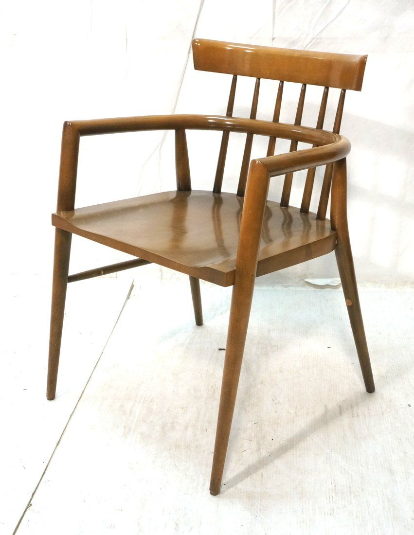 PAUL McCOBB Captains Chair. Modernist. Angled tap