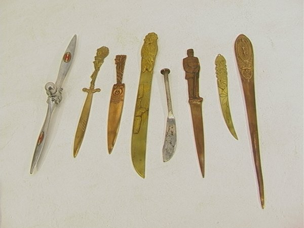 13: 8 pc Lot Letter Openers, Page Turners. Ottawa India
