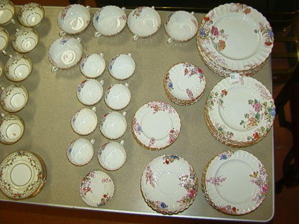 358: SPODE Dishes CHELSEA GARDEN Dinnerware Set. 63 pc