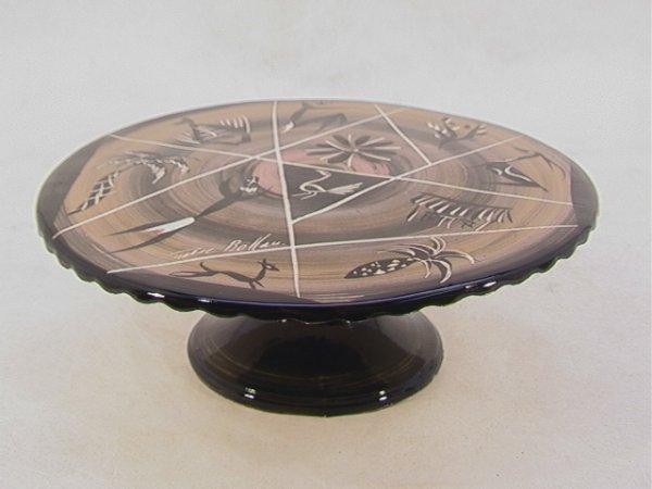 701: MARC BELLAIRE Pygmy Caribbean Ceramic Compote. Car