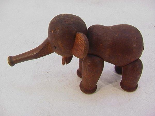 703: KAY BOJESEN Wood Elephant DENMARK Danish. FIGURAL