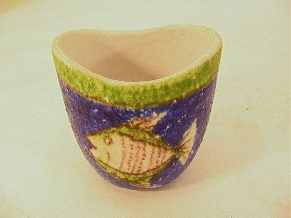 717: RAYMOR ITALY Fish Vase. GAMBONE Style. Fish Image