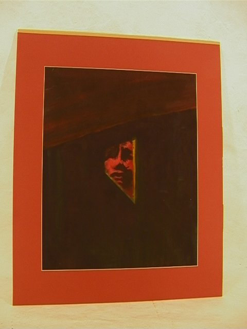 720: ARNULF RAINER Oil Painting Paper Portrait. Signed