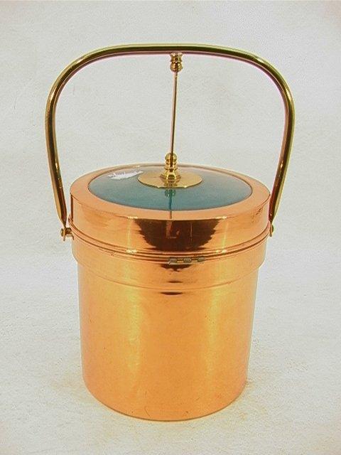 721: GEORGE BRIARD Copper, Enamel Ice Bucket. ELDORADO.