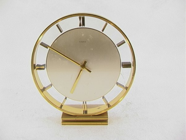 722: KIENZLE Automatic Mystery Clock. Key Wind Brass Fr
