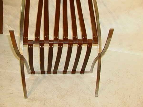 856: Leather cushion BARCELONA chair Brown leather quil - 9