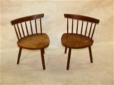 898 2 GEORGE NAKASHIMA Spindleback Walnut Stool Chair