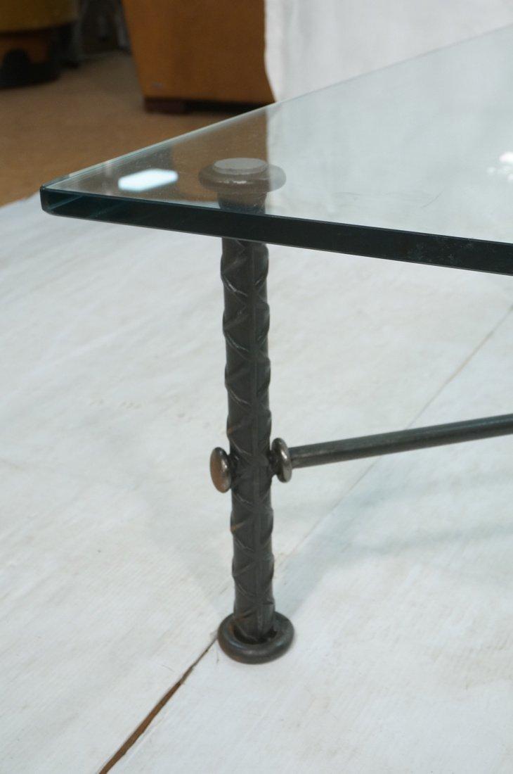 ILANA GOOR Figural Bird Square Cocktail Table. Gl - 3