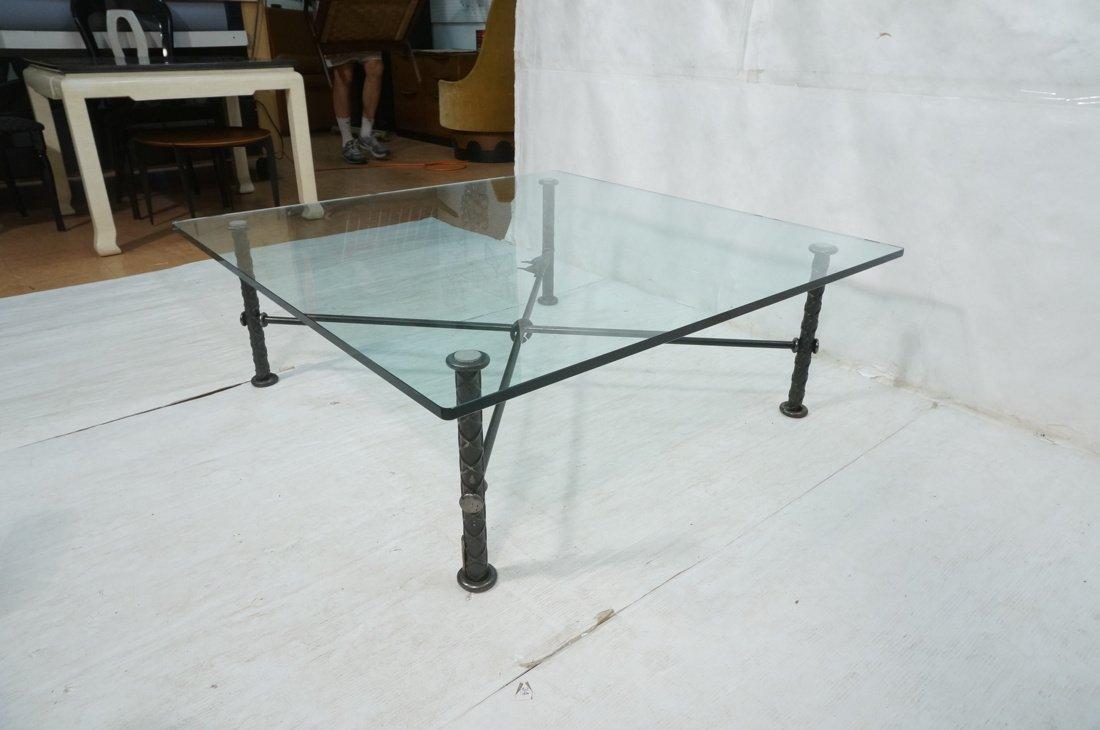 ILANA GOOR Figural Bird Square Cocktail Table. Gl - 7