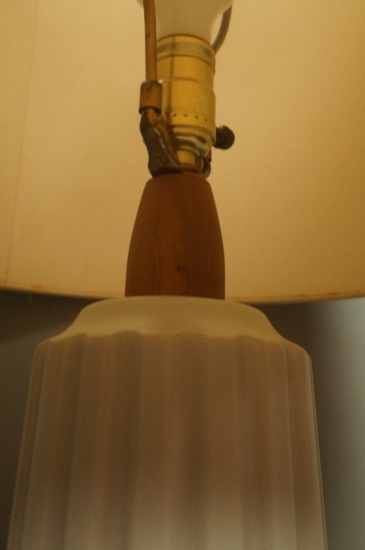 MARTZ Pottery Table Lamp. Fluted Column in whitis - 3