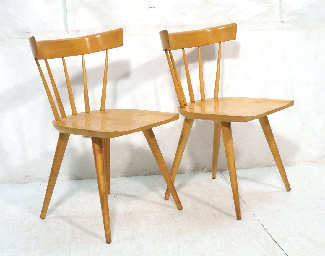 Pr PAUL McCOBB Captains Chairs.  Maple .