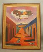 Rodolfo Morales Mexican Surrealist Oil Painting