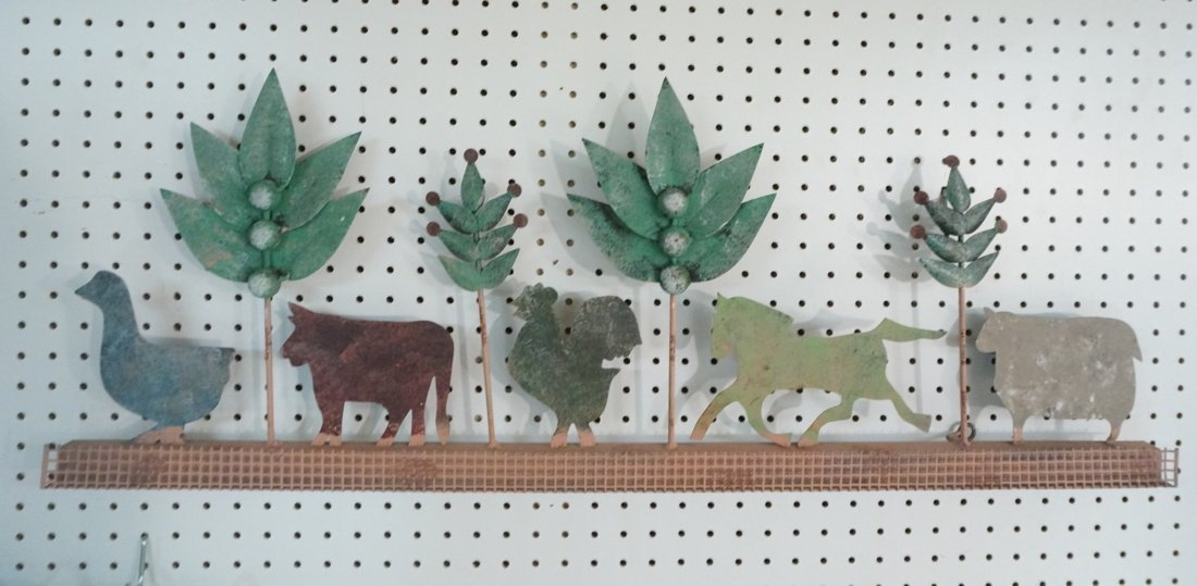 C JERE Wall Sculpture. Barnyard Animals. Signed &