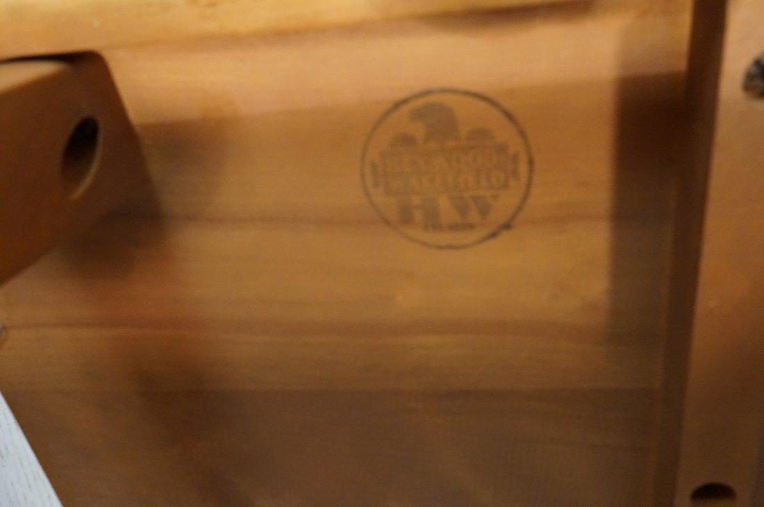 Pr HEYWOOD WAKEFIELD Champagne Side Tables.  Stam - 10