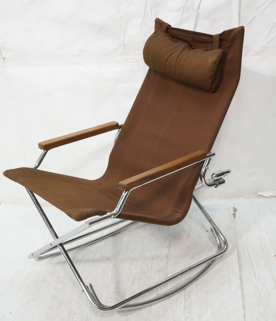 Rocker Lounge Chair UCHIDA Japanese Canvas s