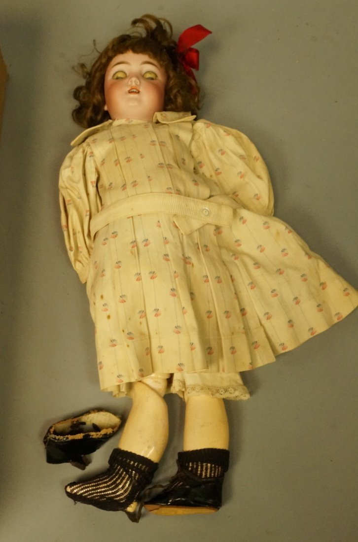 Antique Germany Bisque Doll. Composition body & l
