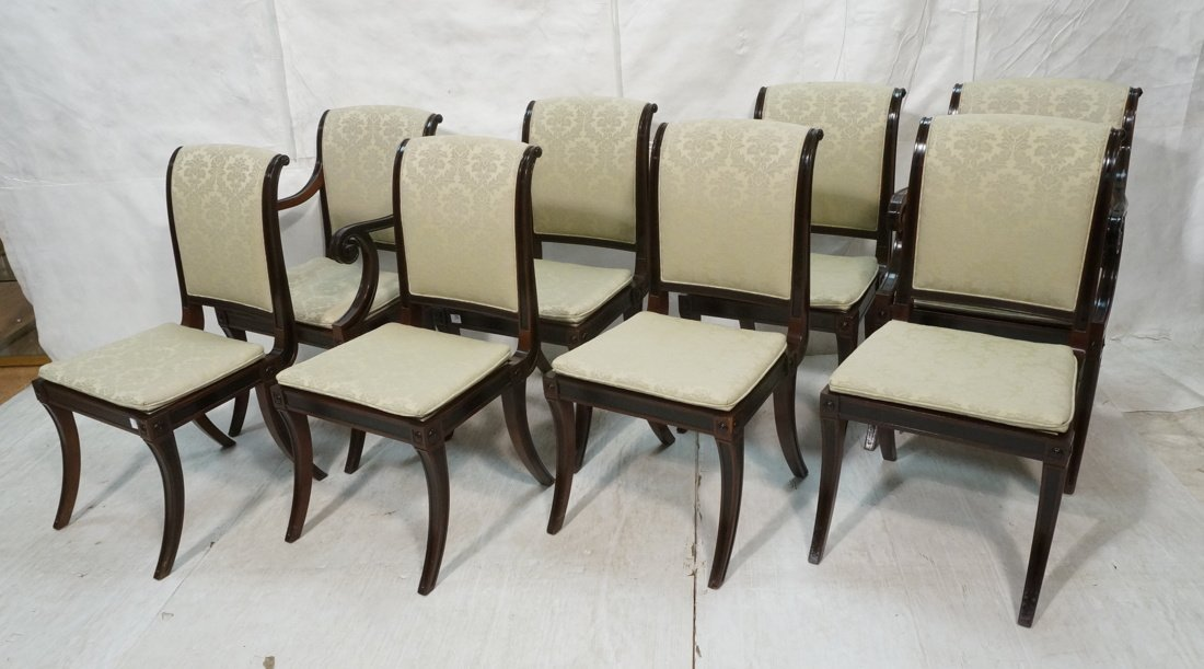 Set 8 BAKER Dining Chairs. Two Arm & 6 Side Chair