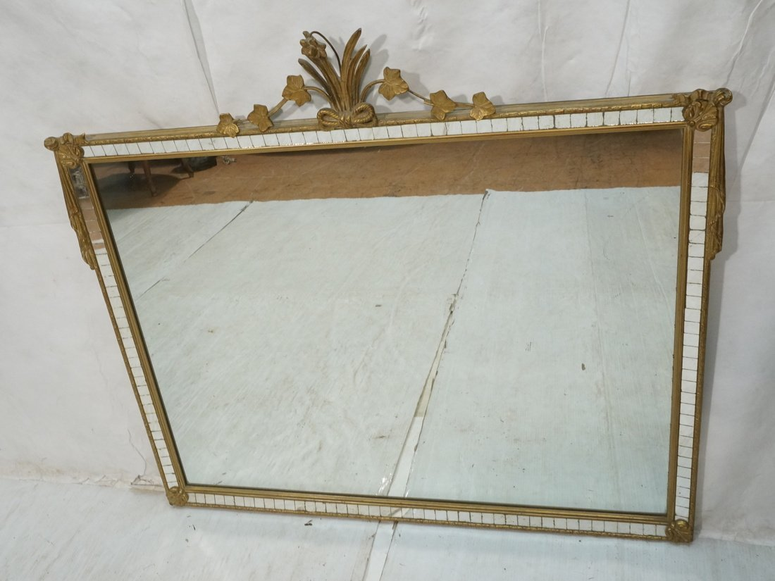Large Hanging Wall Mirror. Mirrored Tile frame wi