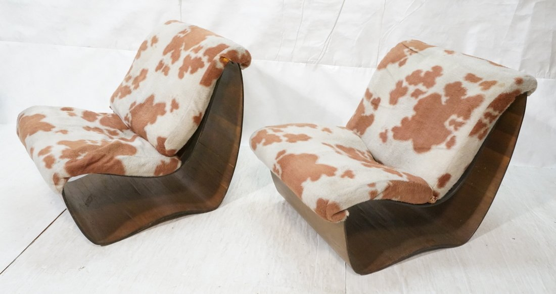 Pr NORMAN CHERNER for PLYCRAFT Lounge Chairs. Lam