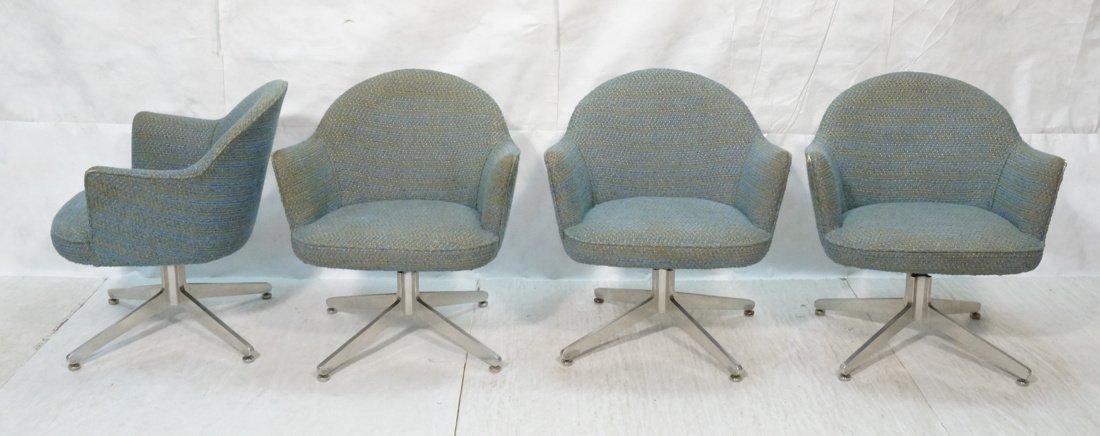 Set 4 HARVEY PROBBER Game Lounge Chairs. Plush Bl