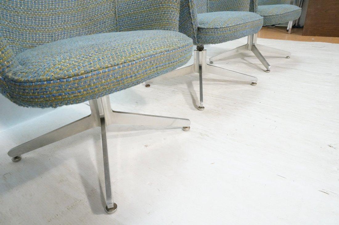 Set 4 HARVEY PROBBER Game Lounge Chairs. Plush Bl - 3
