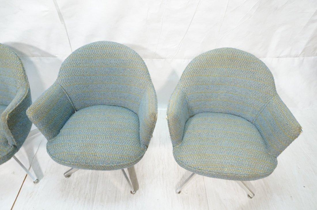 Set 4 HARVEY PROBBER Game Lounge Chairs. Plush Bl - 6