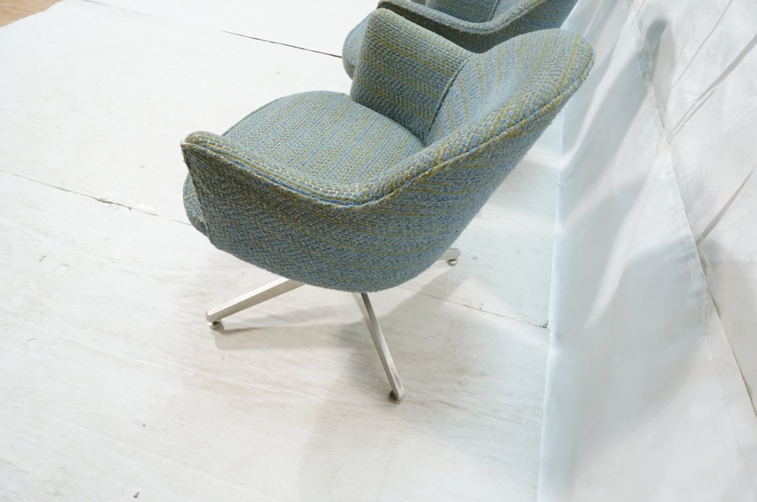 Set 4 HARVEY PROBBER Game Lounge Chairs. Plush Bl - 7