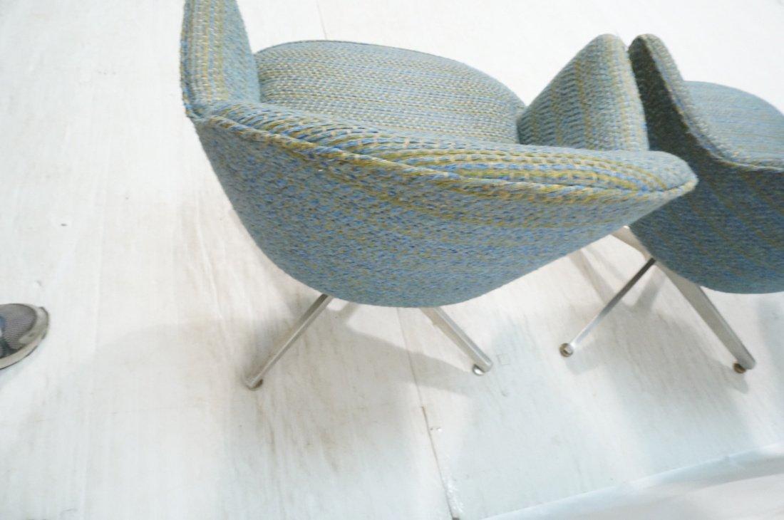 Set 4 HARVEY PROBBER Game Lounge Chairs. Plush Bl - 8