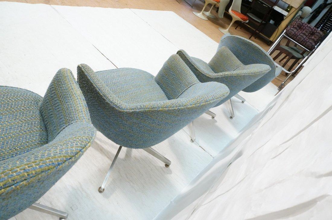 Set 4 HARVEY PROBBER Game Lounge Chairs. Plush Bl - 9